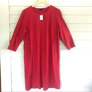 J. Jill True Red Wearever Dress ruched side 3/4